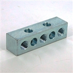 Union anchor block 3x 1/8NPT - 1x1/4-20 crpss mount