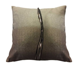 "Prima Donna Leather Modern Pillow 20"" x 20"""