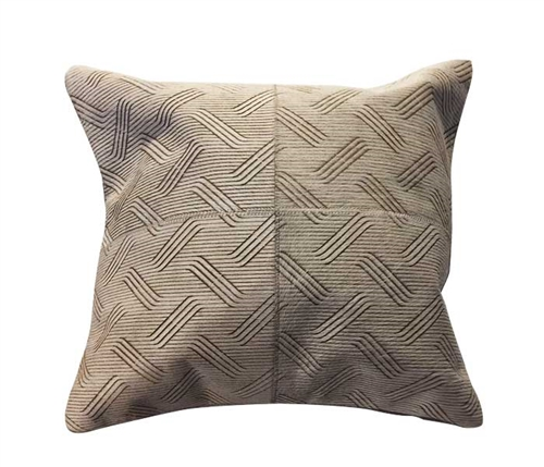 "Tracery Modern Leather Pillow 20"" x 20"""