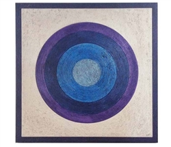 Big Circle Art in Blue and Purple - 40 x 40