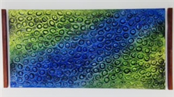 Horizontal Peacock Blue and Green 60 x 30