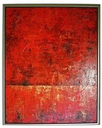 Rockledge ll  Modern Art  with Silver Floating Frame available at Modern Home 2 Go