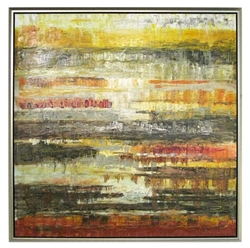 Tribeca  Modern Art  with Silver Floating Frame available at Modern Home 2 Go