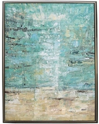 Vista ll Modern Art  with Silver Floating Frame available