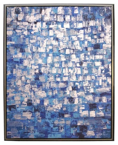 Lagniappe Modern Art  with Silver Floating Frame available at Modern Home 2 Go