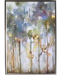 Rainbow Eucalyptus II Modern Art  with Silver Floating Frame available