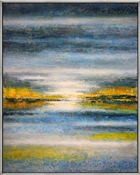 "Scarborough Marsh Modern Art 43""W x 53""H with Silver Floating Frame available at Modern Home 2 Go"