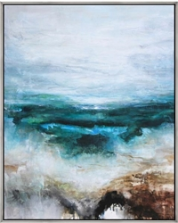 "Caleta Modern Art 43""W x 53""H   with Silver Floating Frame available at Modern Home 2 Go"