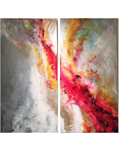 Divine Reverse Painted Acrylic Set of 2