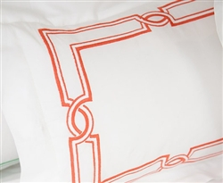 Hand Embroidered Palace King Modern Duvet Red