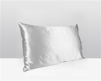 Silk Pillow Case Silver - available at MH2G Stores