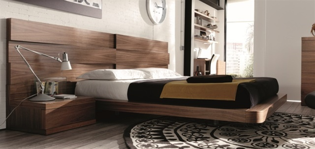 Loop Modern Bed Walnut - Come to Stores For BETTER PRICE!