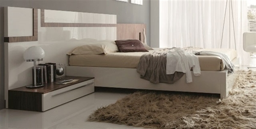 A beautiful contemporary bed with a sleek design
