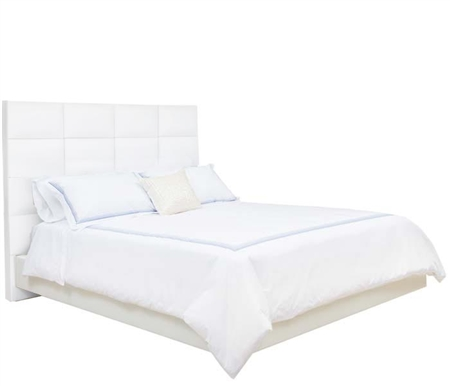 Palermo Modern King Bed in White Leatherette