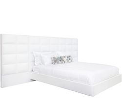 Palermo Modern Queen Bed in White Leatherette