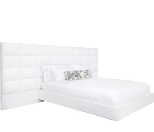 The Palermo Bed Is available in White Leatherette in both Queen and King sizes.