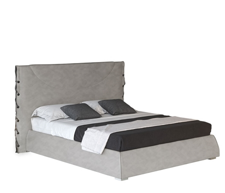 Silva Modern GREY Eco-leather Italian Bed