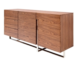 Lugo Modern Buffet in Walnut