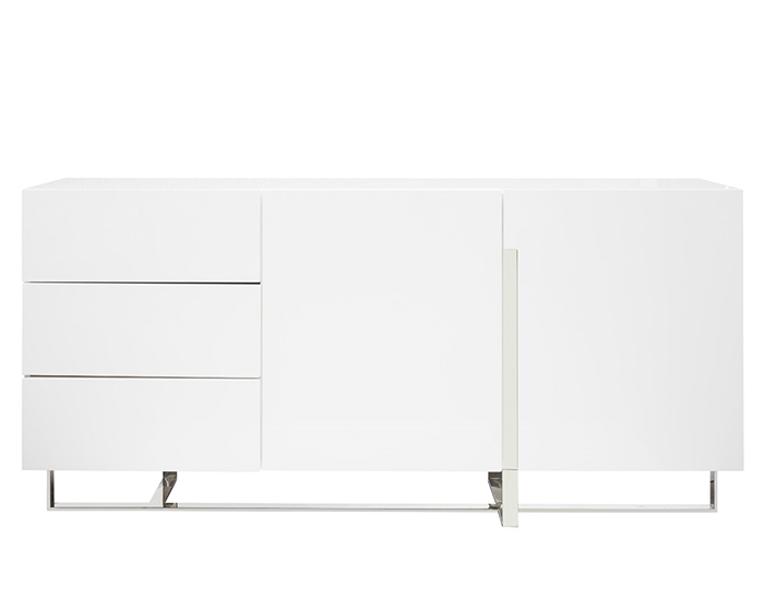 Lugo buffet in white lacquer available at MH2G