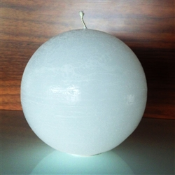 "Rustique Ball  Modern Candle 3"" -  White"