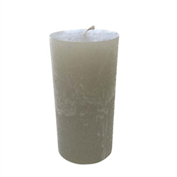 Rustique Pillar Modern Candle 3x4- Platinum