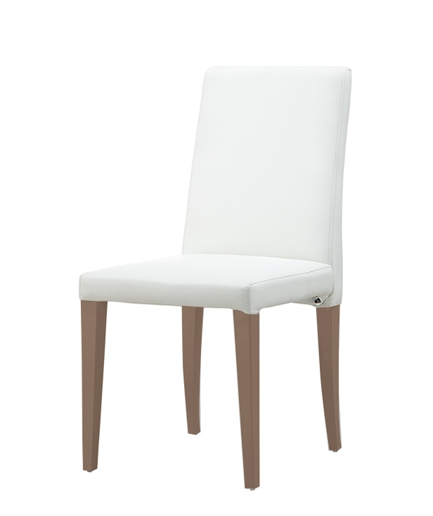 Enjoyable Anzio Modern Dining Chair White Leatherette And Walnut Legs Final Sale No Returns Ncnpc Chair Design For Home Ncnpcorg
