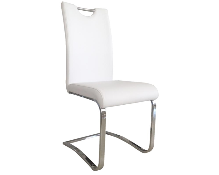Nova Dining Chair white leatherette