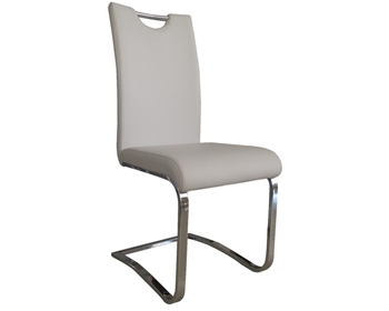 Nova Modern Dining Chair in grey Leather