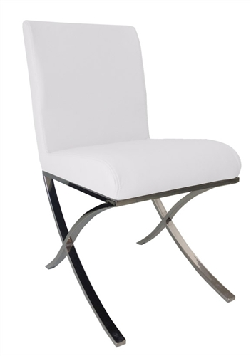 Ruffano Modern Dining Chair in White