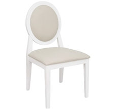 Ripoli Modern Dining Chair in Beige and White without Arms