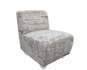 Carpi Modern White Letters Lounge Chair