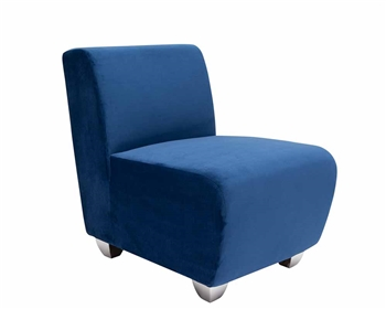 Modern Lounge Chairs - Carpi Blue Velvet Modern Chair - mh2g