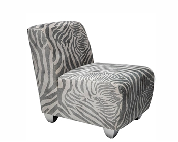 Modern Lounge Chairs - Carpi Khaki Zebra Modern Chair - mh2g