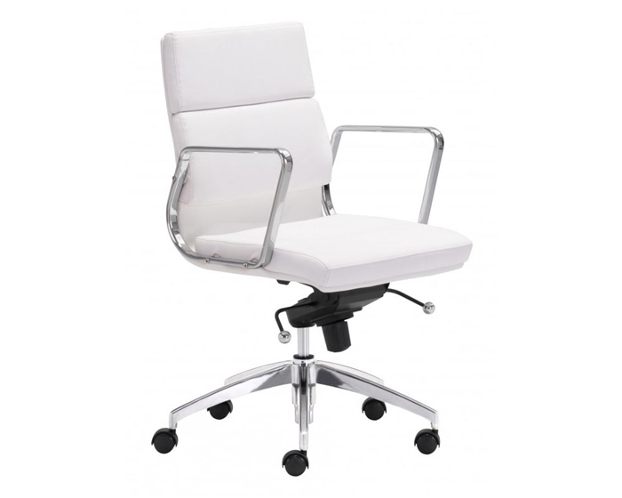 Engineer Modern Low Back Office Chair White