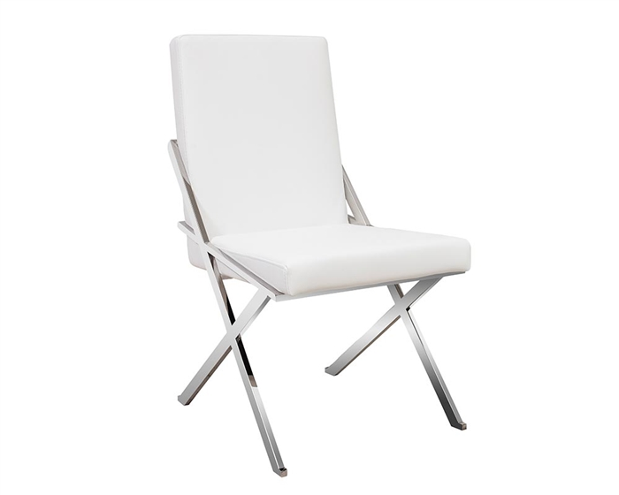 Ravello Modern Lounge Chair in white leather
