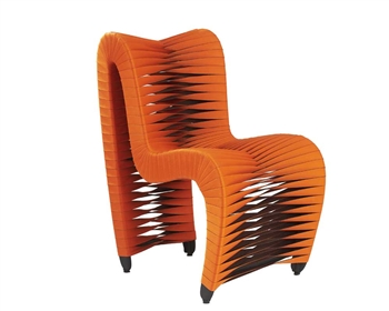 Seat Belt Modern Dining Chair ORANGE