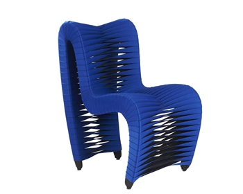 Seat Belt Modern Dining Chair BLUE/BLACK