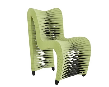 Seat Belt Modern Dining Chair Green