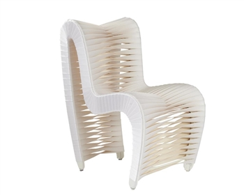 Seat Belt Modern Dining Chair White
