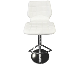 Ravello Modern Bar Stool in White Leather