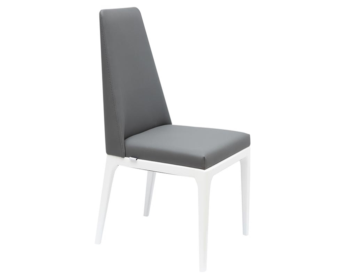 Paola Modern Dining Chair White/Grey Eco-Leather