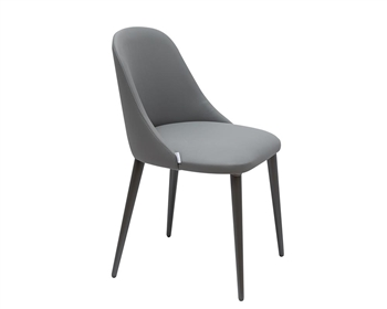 Bergamo Modern Dining Chair DarkGrey Eco-Leather