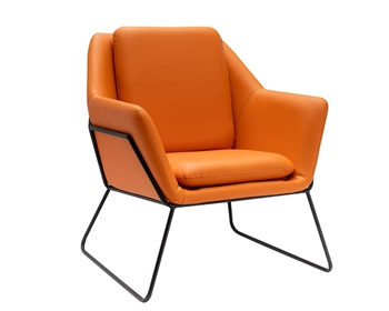 Mazara Modern  Lounge Chair Orange