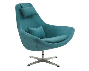 Minoa Modern Swivel Lounge Chair in Aqua Green