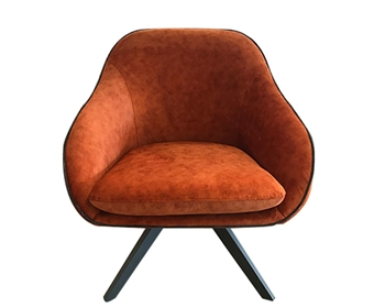 Agira Modern Lounge Chair Orange Fabric