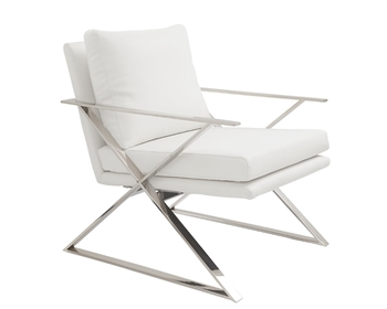 Chieti Modern Lounge Chair White
