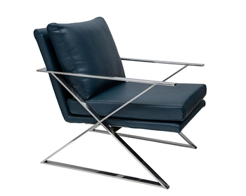 Chieti Modern Lounge Chair Blue