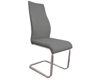 Modern Dining Chair grey Eco Leather