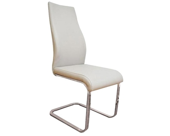 Modern Dining Chair white Eco Leather