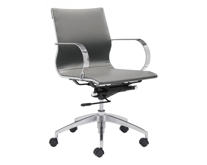 Glider Modern Low Back Office Chair Gray